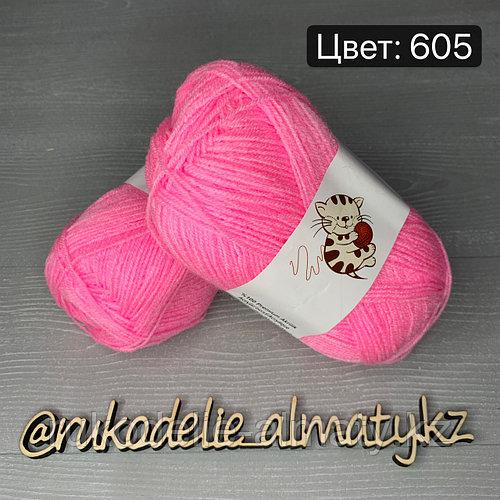 Акриловая пряжа для новорожденных Bebe 100 нежно-розовый