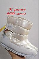 Сапоги дутики белые зимние