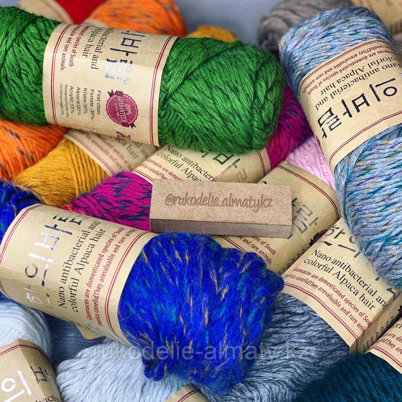 """Пряжа для ручного вязания """"NANO """", 100 гр, цвет-светло-серый - фото 4"""