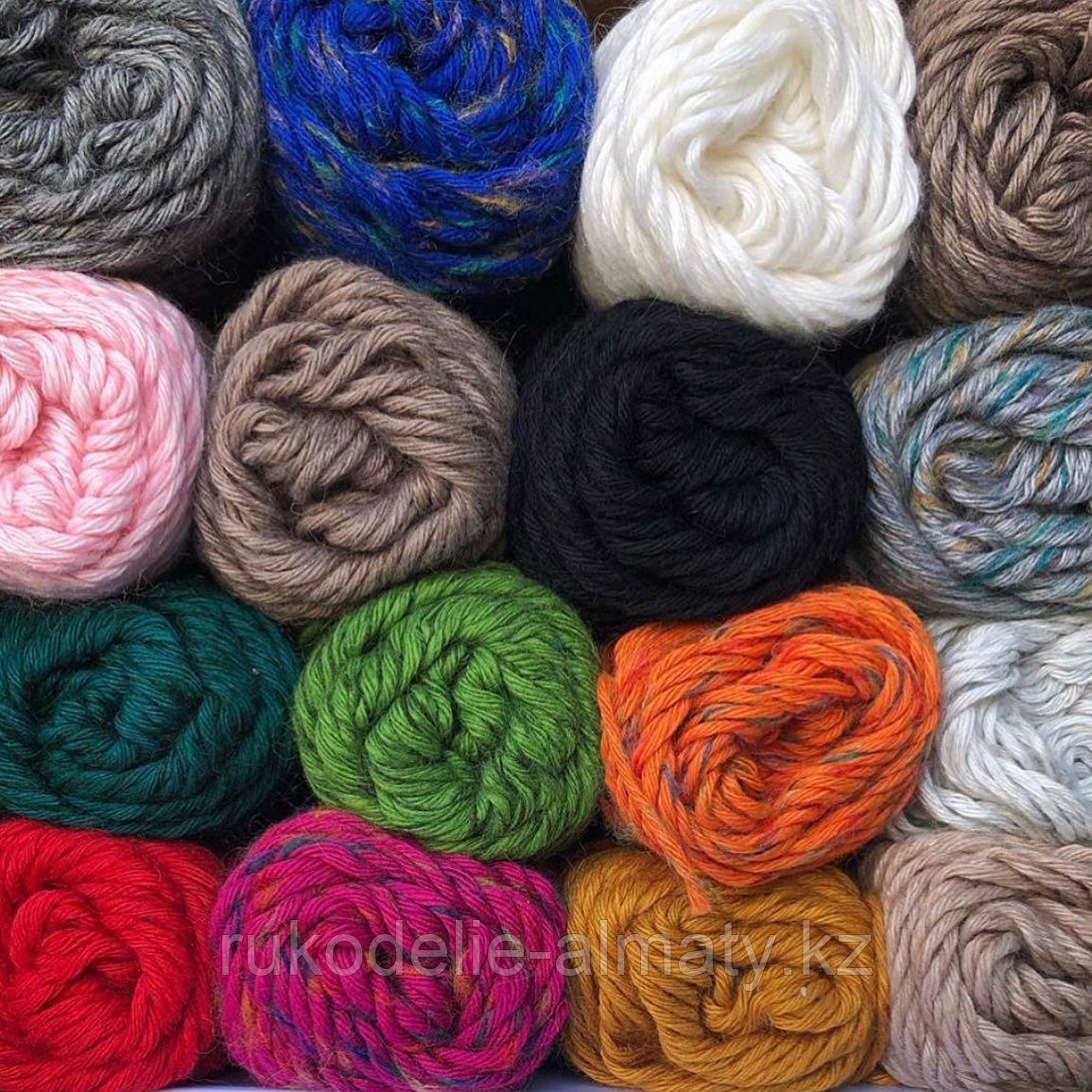 """Пряжа для ручного вязания """"NANO """", 100 гр, цвет-светло-серый - фото 5"""