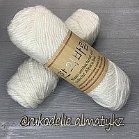 """Пряжа для ручного вязания """"NANO """", 100 гр, цвет-светло-серый"""