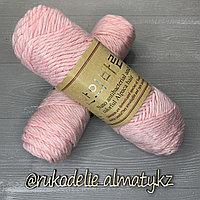 """Пряжа для ручного вязания """"NANO """", 100 гр, цвет-светло-серый розовый"""