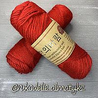 """Пряжа для ручного вязания """"NANO """", 100 гр, цвет-светло-серый красный"""