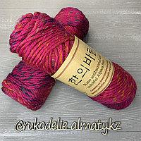 """Пряжа для ручного вязания """"NANO """", 100 гр, цвет-светло-серый малиновый"""