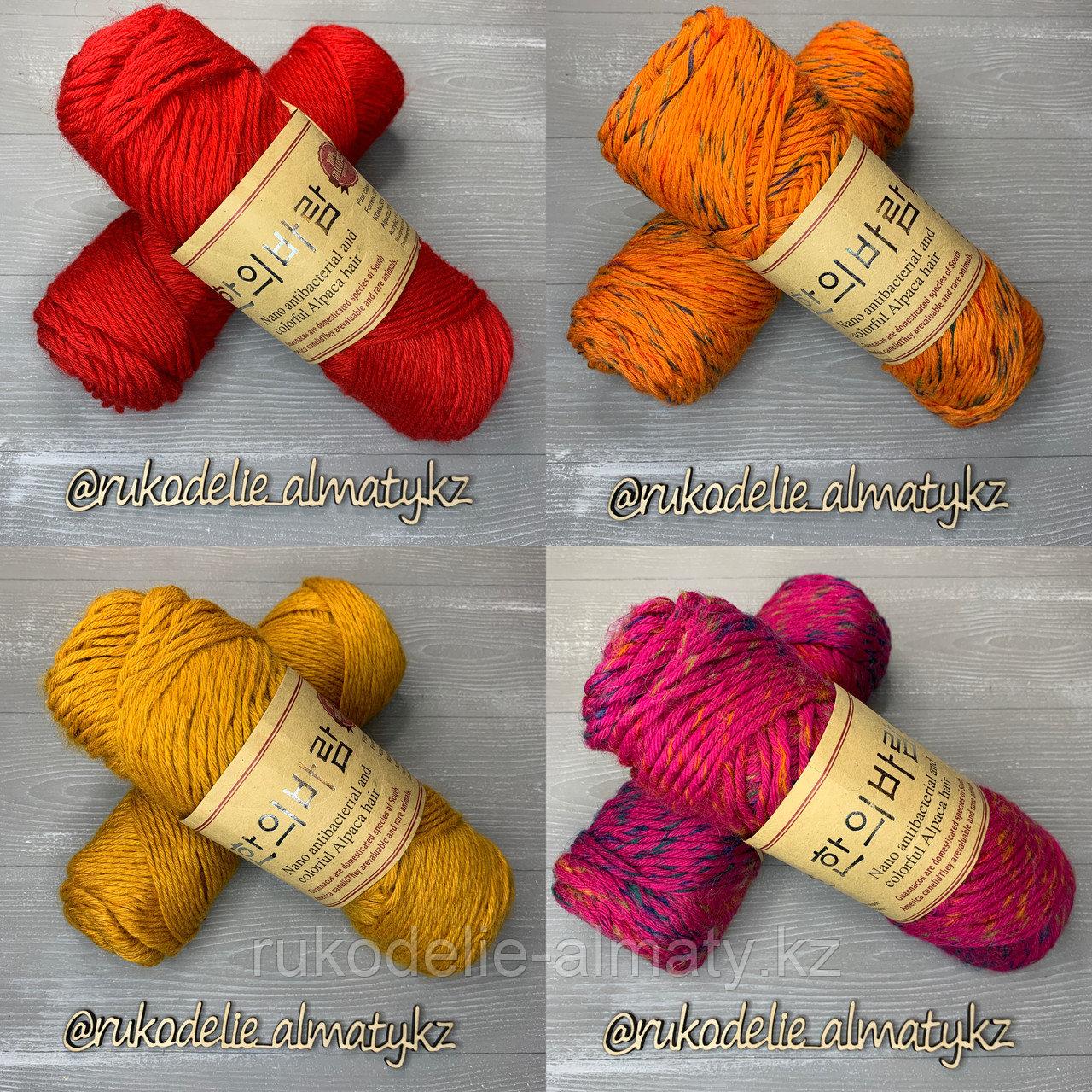 """Пряжа для ручного вязания """"NANO """", 100 гр, цвет-светло-серый оранжевый - фото 2"""