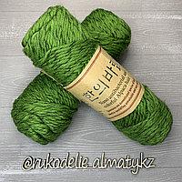 """Пряжа для ручного вязания """"NANO """", 100 гр, цвет-светло-серый салатовый"""
