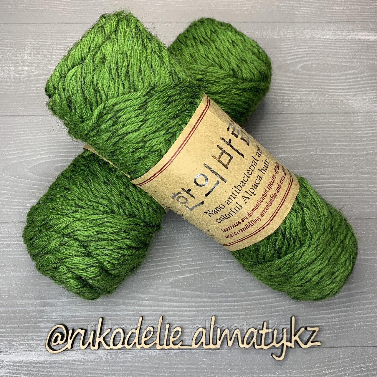 """Пряжа для ручного вязания """"NANO """", 100 гр, цвет-светло-серый салатовый - фото 1"""