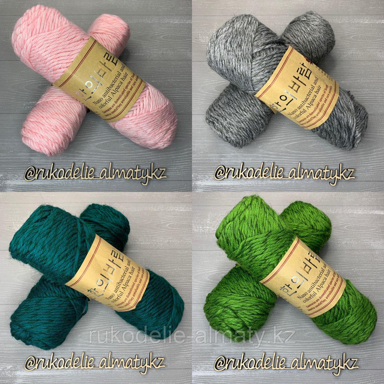 """Пряжа для ручного вязания """"NANO """", 100 гр, цвет-светло-серый салатовый - фото 2"""