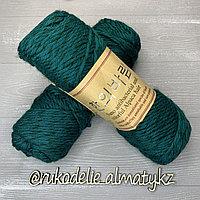 """Пряжа для ручного вязания """"NANO """", 100 гр, цвет-светло-серый темно-зеленый"""