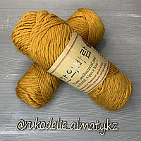 "Пряжа для ручного вязания ""NANO "", 100 гр, цвет-светло-серый горчица"