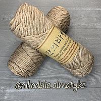 """Пряжа для ручного вязания """"NANO """", 100 гр, цвет-светло-серый нюд"""