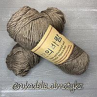 "Пряжа для ручного вязания ""NANO "", 100 гр, цвет-светло-серый какао"
