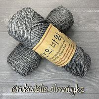 "Пряжа для ручного вязания ""NANO "", 100 гр, цвет-светло-серый серый"