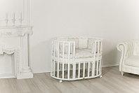 Детская кроватка Incanto Северная Звезда 9 в 1 белая с матрасом, фото 1
