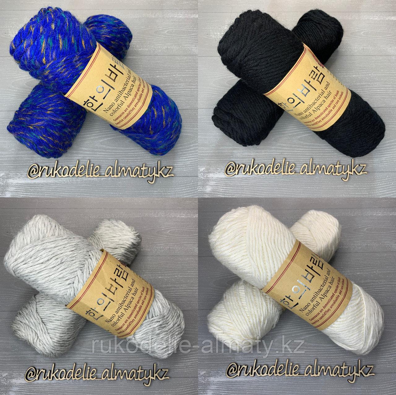 """Пряжа для ручного вязания """"NANO """", 100 гр, цвет-светло-серый серо-белый - фото 2"""
