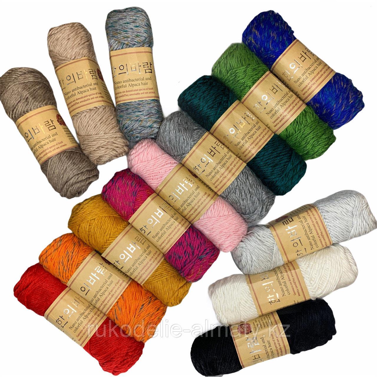 """Пряжа для ручного вязания """"NANO """", 100 гр, цвет-светло-серый - фото 2"""