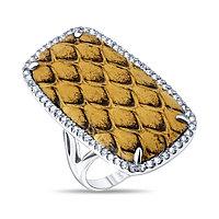 Кольцо TEO SANTINI серебро с родием, фианит, квадрат DZR150146R