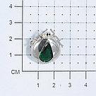 Брошь Pokrovsky серебро с родием, кварц синт., замок-булавка, фауна 2700074-04045, фото 3