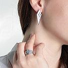 Кольцо Delta серебро с родием, фианит, многокаменка с1100070 размеры - 18, фото 2