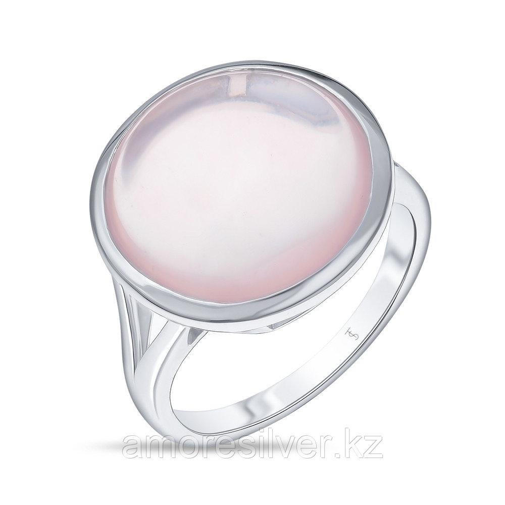 Кольцо Teo Santini серебро с родием, кварц розовый, круг SR1350-1