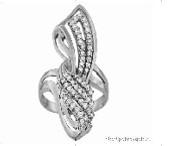 Кольцо Pokrovsky серебро с родием, фианит, геометрия 0100611-00775