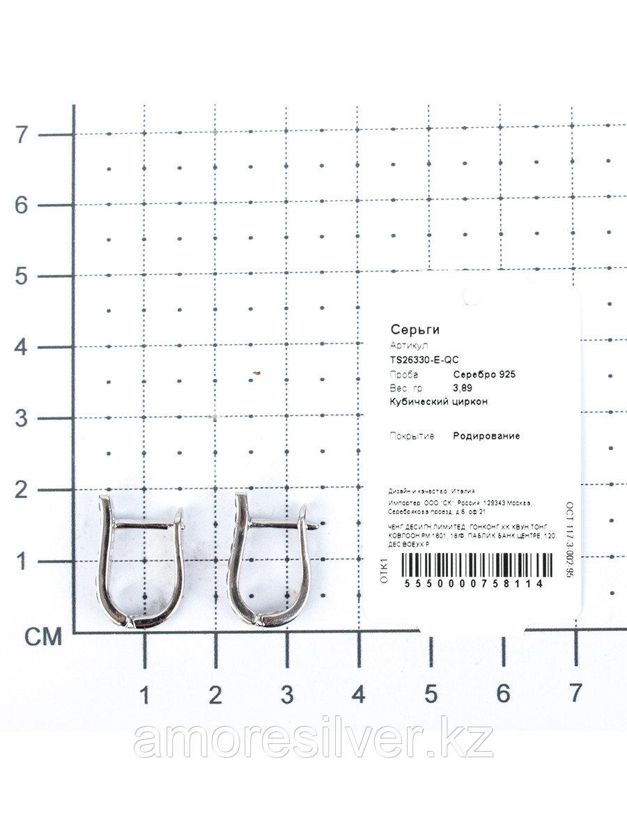Серьги Teo Santini серебро с родием, кубический циркон, многокаменка TS26330-E-QC - фото 2