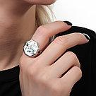 Кольцо Teo Santini серебро с родием, перламутр фианит, флора SR1774, фото 2