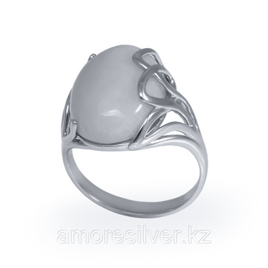 Кольцо Елана серебро с родием, бирюза, овал 211446