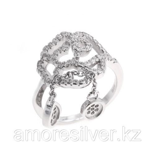 Кольцо TEOSA серебро с родием, фианит, флора MKRJ00191-R