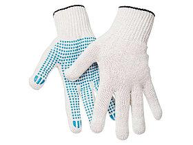 Перчатки х/б OfficeClean, стандарт,с точечным ПВХ-покрытием,5 ниток, белые