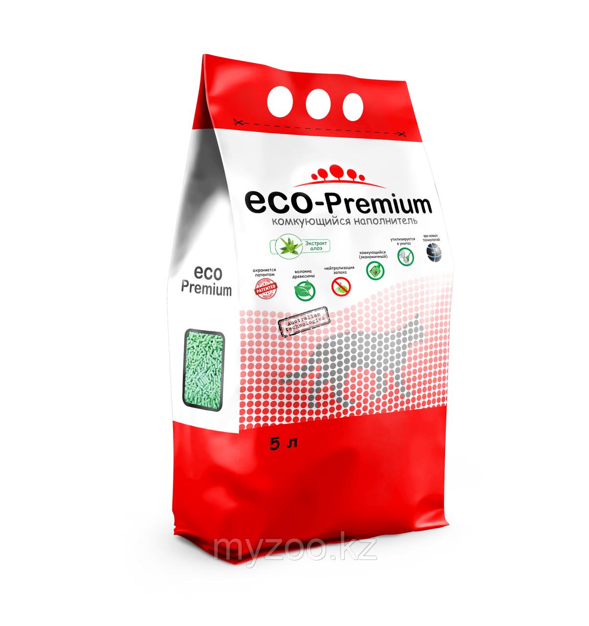 ECO-Premium Алоэ, 5 л  Эко-премиум комкующийся древесный наполнитель 