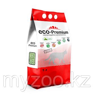 ECO-Premium Зеленый чай, 5 л |Эко-премиум комкующийся древесный наполнитель|