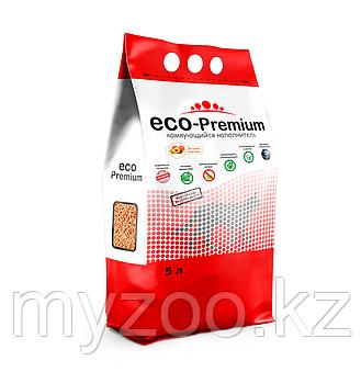 ECO-Premium Персик, 5 л |Эко-премиум комкующийся древесный наполнитель|