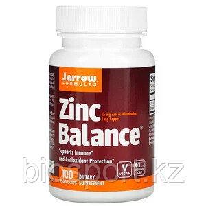 Jarrow Formulas, Zinc Balance, 100 капсул