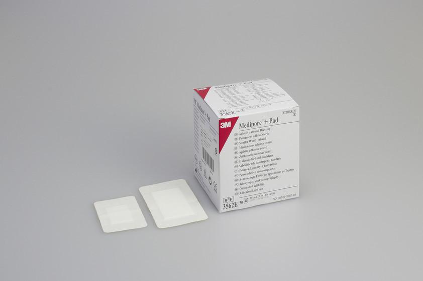 Повязка адгезивная для закрытия ран 3M™ Medipore™+Pad, 3562E
