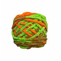 Велюровая пряжа для ручного вязания, толщиной 0,8 мм салатов-оранж