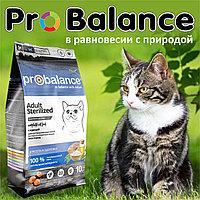 Пробаланс Сухой корм для стерилизованных кошек с курицей