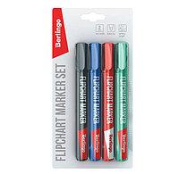 Набор маркеров для флипчарта Berlingo, 4 цвета