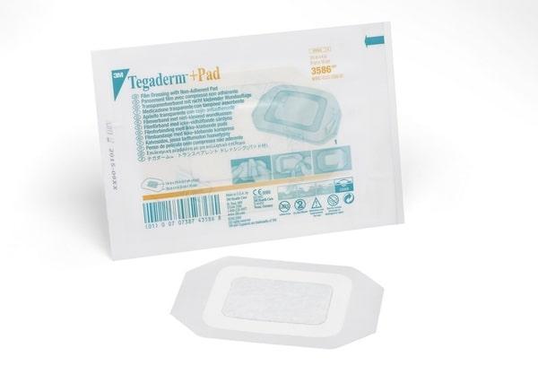 Пленочная прозрачная повязка с впитывающей подушечкой 3M™ Tegaderm®+Pad, 3586