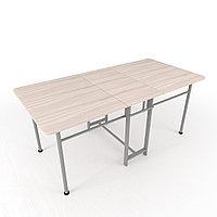 Обеденный стол Попов Стандарт-2, плюс 1850*1000 ясень шимо светл