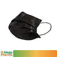 Маска трехслойная из нетканого материала одноразовая, ТОО MegaPharma черная