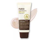 ББ крем с муцином улитки светлый, PURITO Snail clearing BB cream № 21 Light beige, SPF 38/PA+++ 30 мл