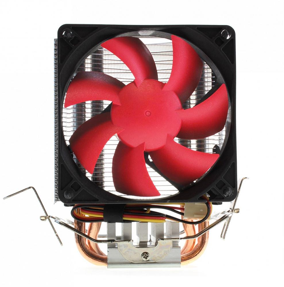 Кулер CROWN  CM-92 (Для Intel и AMD, TDP до 95 Ватт, коннектор 3 pin, 2шт. медных теплопроводных