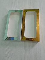 Коробка 18*9*2см с окном серебро