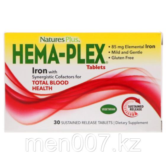 БАД Nature's Plus, Hema-Plex (30 таблеток с длительным высвобождением)