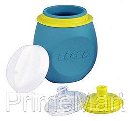 Контейнер-поильник из силикона Beaba Set babySqueez&Portion Blue