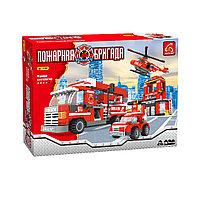 Игровой конструктор, Ausini, 21901, Пожарная бригада, Штаб пожарной бригады, 697 деталей, Цветная коробка