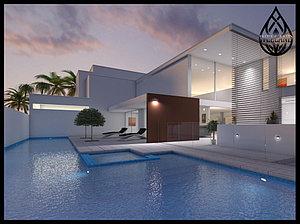 3D визуализация скиммерных бассейнов