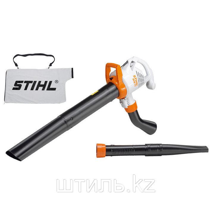 Всасывающий измельчитель STIHL SHE 71 (1,1 кВт | 580 м3/ч) электрический садовый пылесос и воздуходувка