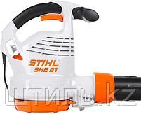 Всасывающий измельчитель STIHL SHE 81 (1,4 кВт | 650 м3/ч) электрический садовый пылесос и воздуходувка, фото 4